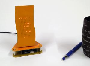 """Designer Uhr Mini Wave -Bausatz v2- """"Pumpkin Pie"""""""