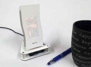 """Designer Uhr Mini Wave -Bausatz v3 - """"Weißer Riese"""""""