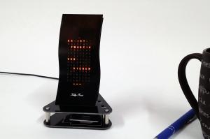 """Designer Uhr Mini Wave -Bausatz v3- """"Schwarzer Peter"""""""